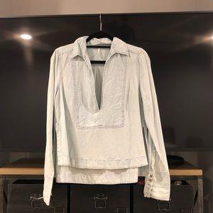 Free People Long Sleeve Linen Shirt